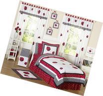 Sweet Jojo Designs 4-Piece Red and White Ladybug Polka Dot
