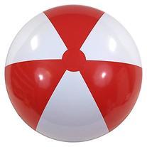 """42"""" Red & White P7 Beach Balls"""