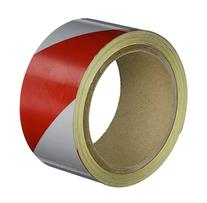 "Heskins REF2A Red/White Reflective Tape, 2"" x 10 yd"