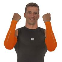 Zensah Reflect Compression Arm Sleeves, Neon Orange, Small/