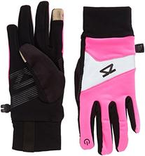Zensah Reflective Touch Screen Running Gloves, Medium, Neon