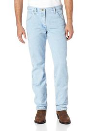 Wrangler Men's Regular Fit Cowboy Cut Jeans, Bleach Wash,