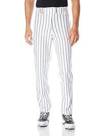 Rawlings Men's Relaxed Fit BP95MR Pinstriped Pant, White