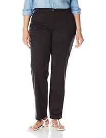 Lee Women's Plus-Size Relaxed-Fit All Day Pant, Black, 18W