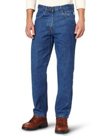 Carhartt Men's Relaxed Fit Five Pocket Tapered Leg Jean B17,Darkstone,42 x 28