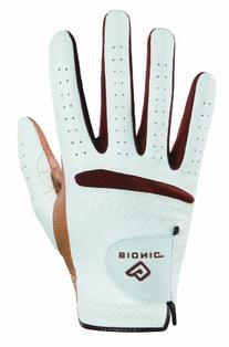 Bionic Women's RelaxGrip Left Hand Golf Glove, White/Caramel