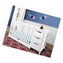 Remi 4-in-1 Convertible Crib and Changer, White