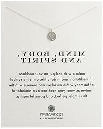 "Dogeared Reminder ""Mind, Body, and Spirit"" Sterling Silver"
