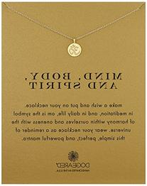 """Dogeared Reminders """"Mind, Body, and Spirit"""" Om Disc Charm"""