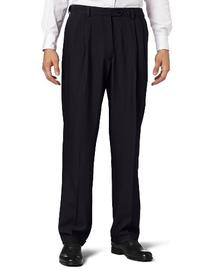 Haggar Men's Repreve Stria Gab Pleat Front Dress Pant,Navy,