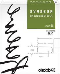 D'Addario Reserve Alto Saxophone Reeds, Strength 2.5, 10-