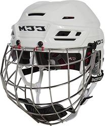 CCM Resistance Hockey Helmet w/Cage, Small, White