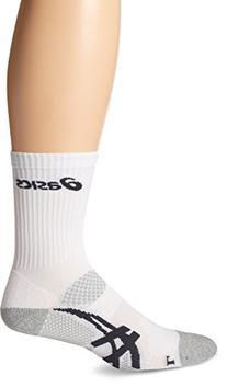 ASICS Resolution Crew Socks, White/Frost, X-Large