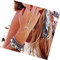 AutumnFall® Fashion Retro Bracelet Finger Ring Bangle Slave