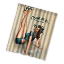 "RETRO ""PIN UP GIRL-COME ON IN"" Custom Polyester waterproof"