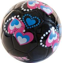 Vizari Retro Hearts Soccer Ball, Black/Pink/Blue, 5