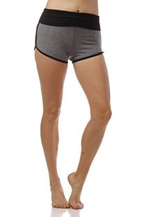 Emmalise Women's Retro Vintage Exercise Yoga Active Shorts