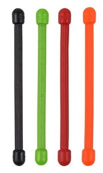 Nite Ize Reusable Rubber Twist Ties Assorted Colors Carded 4