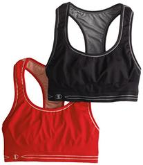 Champion Women's Reversible Seamless Racer Back Bra 2 Pack,