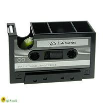 New Rewind Desk Tidy Retro Cassette Tape Dispenser Gadget