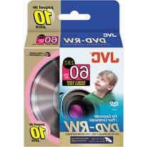 JVC 8cm Rewritable Double-Sided DVD-RW for Camcorder - 10