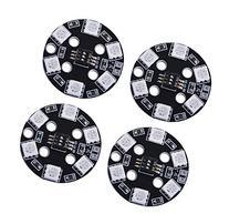 Crazepony 4pcs RGB 5050 LED Light 7 Color Circle DIP Switch