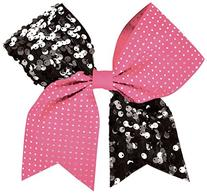 Rhinestone And Sequin Performance Hair Bow Pink