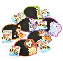 ~ 12 ~ Zoo Safari Mini Chalkboard Magnet Sets ~ New ~ Lion,