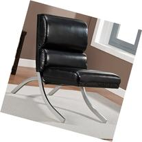 Metro Shop Rialto Black Bonded Leather Chair