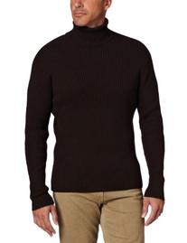 Alex Stevens Men's Ribbed Turtleneck, Sable, X-Large