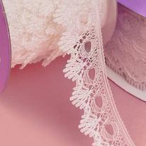 White Lexy Lace Ribbon 18mm X 25yd