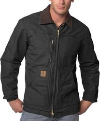 Carhartt Men's Ridge Coat Sherpa Lined Sandstone,Black,