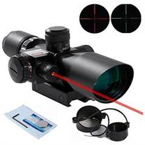 Beileshi Rifle Scope Red Dot Tactical 2.5-10x40 Red Laser