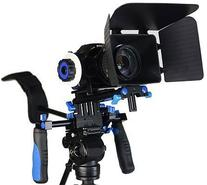 DSLR RIG With Follow Focus And Matte Box Shoulder Mount Rig