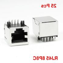 Right Angle Pin 8P8C RJ45 PCB Jack Female Modular Network