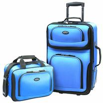 U.S. Traveler RIO 2-Piece Expandable Carry-On Luggage Set,