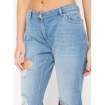 Miss Selfridge Extreme Ripped Slim Boyfriend Jeans