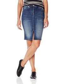 Miss Me Junior's High Rise Denim Skirt, Medium Blue, 26