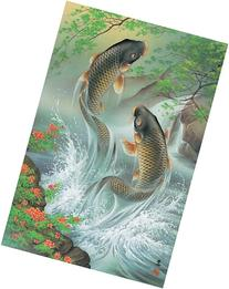 Rising Koi Carps Jigsaw Puzzle  Japan by Appleone