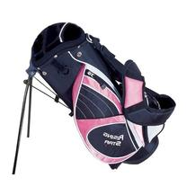 Paragon Golf Rising Star Jr Golf Bag with Stand, Pink - 25