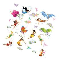 Roommates Rmk1493Scs Disney Fairies Wall Decals With Glitter