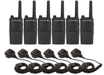 6 Pack Motorola RMU2040 Radios with Speaker Mics