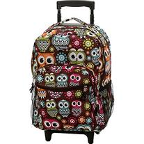 """Rockland Luggage Roadster 17"""" Rolling Backpack"""