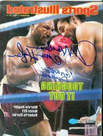 Roberto Duran & Marvelous Marvin Hagler autographed Sports