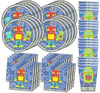 Robot Birthday Party Supplies Set Plates Napkins Cups