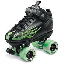 Rock Flame Skate Black-Green Sz 7