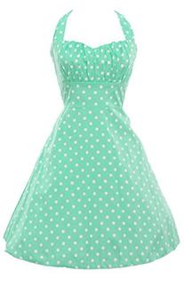 ACEVOG Women Rockabilly 50s Vintage Polka Dots Cocktail