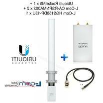 Ubiquiti RocketM5 X1 + RPSMA Plug NMale X2 + 5.8GHz 13dBi