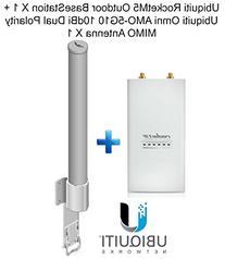 Ubiquiti RocketM5 Outdoor BaseStation X 1 + Omni AMO-5G10