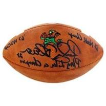 Rocky Bleier signed Notre Dame Fighting Irish Official NCAA Gameday Football 1966 Natl Champs, 1967 Captain & Play Like-Steiner